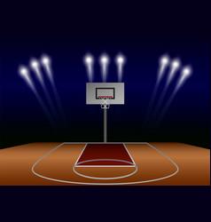 Basketball spotlight field concept background vector