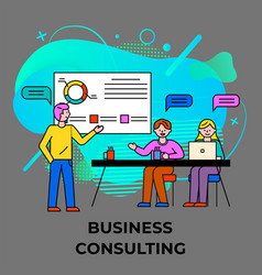 Business consulting educational seminar worker vector