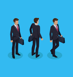 Businessman carrying briefcase vector