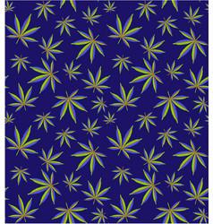 cannabis leaves seamless pattern cannabis field vector image