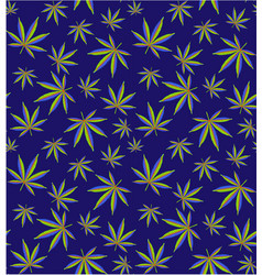 cannabis leaves seamless pattern field vector image