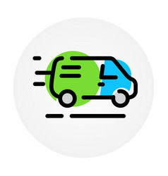 car icon delivery goods services a cargo vector image