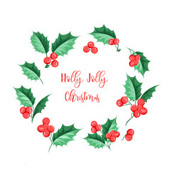 Christmas mistletoe holiday garland happy new vector