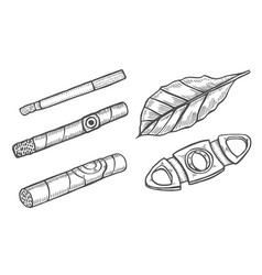 Cigars and guillotine vector