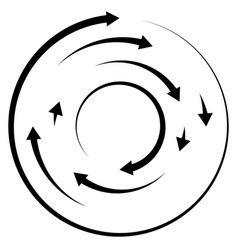 Circular concentric arrows cyclic cycle arrows vector