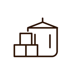 Coffee package delivery icon line design vector