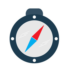 Compass flat multi color vector