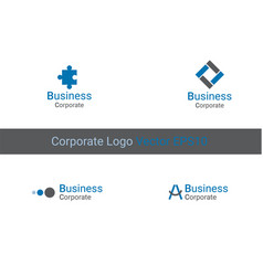 corporate logo identity x9xa vector image