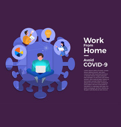 Covid-19 work from home 14 vector