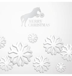 Creative christmas snow cristalls vector