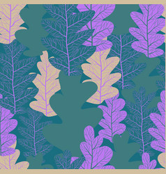decor leaves seamless vector image
