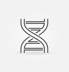 Double helix minimal icon dna symbol vector