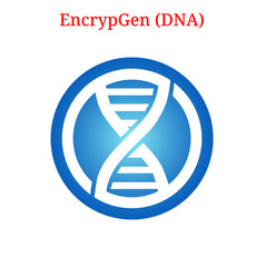 Encrypgen dna logo vector