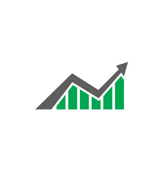 finance arrow logo vector image