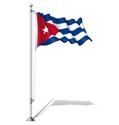 Flag Pole Cuba vector image