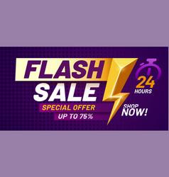 Flash sale poster lightning offer sales special vector