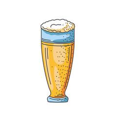 Glass beer on white background oktoberfest vector