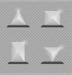 glass trophy award set vector image