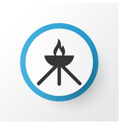 grill icon symbol premium quality isolated vector image