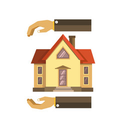 hands over and under the house vector image