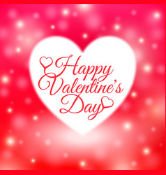 Happy valentines day card with red background vector