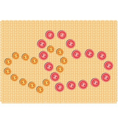 Heart of Buttons vector image