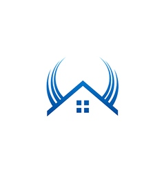 House wing realty abstract logo vector