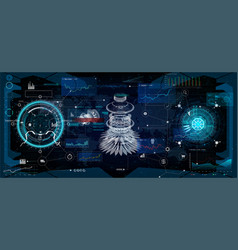 Hud interface virtual reality technology vector