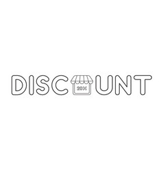 icon concept discount word with 20 percent vector image