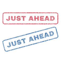 just ahead textile stamps vector image