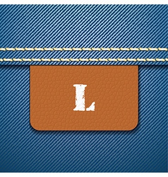 L size clothing label vector