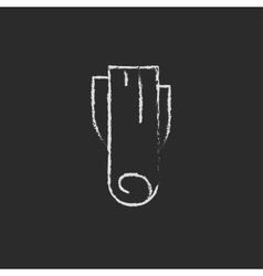 Leek icon drawn in chalk vector