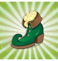 Leprechaun shoe vector