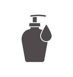 Liquid soap bottle with drop icon vector