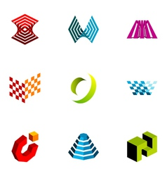 Logo design elements set 18 vector