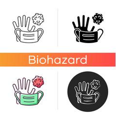 medical waste icon vector image