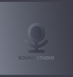 microphone logo for sound studio vector image