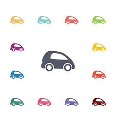 mini car flat icons set vector image