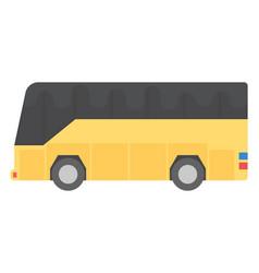 Modern bus flat icon vector