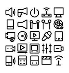 Multimedia Icon 8 vector