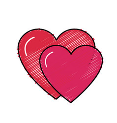 Nice hearts and love symbol design vector