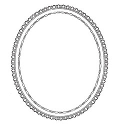 Oval frame is a simple design vintage engraving vector
