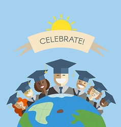 People of the World Graduation and Education vector image
