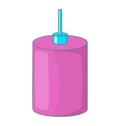 Pink hanging lamp icon cartoon style vector