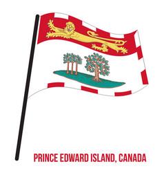 Prince edward island flag waving on white vector