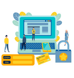 registration on site access to account vector image