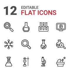 Research icons vector