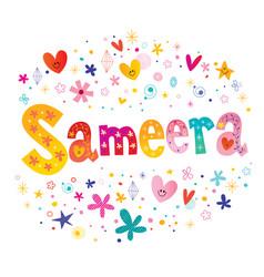 Sameera girls name vector
