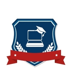 School emblem frame icon vector