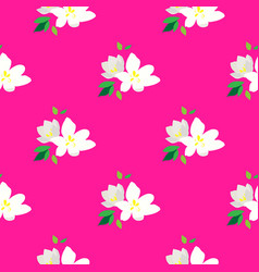 seamless pattern - blossoming branches of cherry vector image